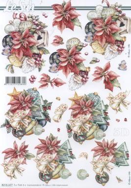 3D Bogen / Nouvelle 8215-.....,  Weihnachten - Weihnachtsbaum,  Le Suh,  3D Bogen,  Gesteck