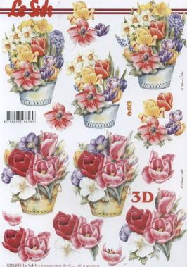 3D Bogen / alle anderen,  Blumen - Tulpen,  Le Suh,  3D Bogen,  Tulpen,  Narzissen