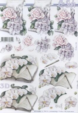 3D Bogen / Orchideen, Blumen - Orchideen,  Blumen - Rosen,  Le Suh,  3D Bogen,  Orchideen,  Rosen