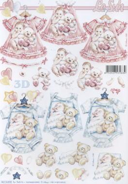 3D Bogen / Artikelnummern,  Ereignisse - Geburt,  Le Suh,  3D Bogen,  Geburt,  Baby,  Jungen ,  Mädchen