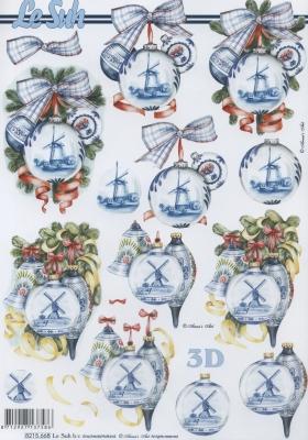 3D Bogen / Weinhachten,  Weihnachten - Baumschmuck,  Le Suh,  Weihnachten,  3D Bogen,  Baumkugeln