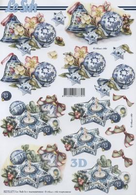 3D Bogen / Sonstiges, Weihnachten - Kerzen,  Weihnachten - Glocken,  Le Suh,  Weihnachten,  3D Bogen,  Blumen,  Kerzen,  Baumkugeln,  Glocken