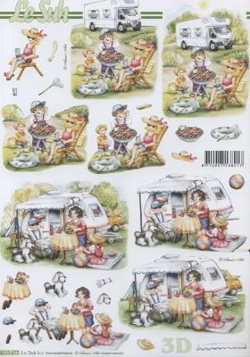3D Bogen Urlaub+Zelten - Format A4,  Fahrzeuge -  Sonstige,  Le Suh,  Sommer,  3D Bogen,  Urlaub,  camping,  Wohnmobil