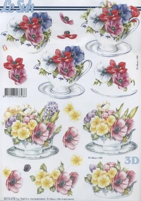 3D Bogen / Sommer, Sonstiges -  Sonstiges,  Blumen -  Sonstige,  Le Suh,  Sommer,  3D Bogen,  Blumen,  Kaffeetasse
