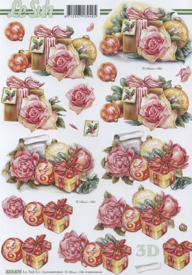 3D Bogen / Sonstiges, Weihnachten - Geschenke,  Blumen - Rosen,  Weihnachten - Baumschmuck,  Weihnachten,  3D Bogen,  Baumkugeln,  Geschenke,  Rosen