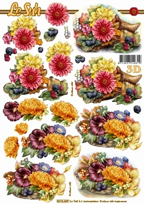 3D Bogen Blumengebinde Format A4 - Format A4,  Blumen -  Sonstige,  Le Suh,  Sommer,  3D Bogen,  Blumen