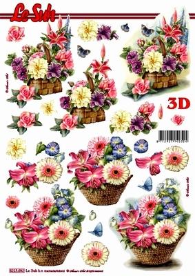 3D Bogen / Sonstige,  Blumen -  Sonstige,  Le Suh,  Sommer,  3D Bogen,  Blumen,  Korb