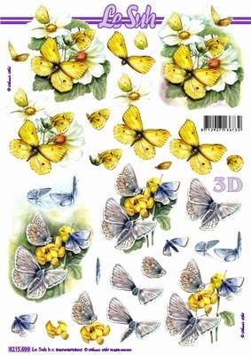 3D Bogen / Nouvelle 8215-.....,  Tiere - Schmetterlinge,  Le Suh,  Sommer,  3D Bogen,  Schmetterlinge