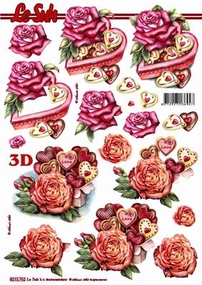 3D Bogen / Art, Ereignisse - Liebe,  Blumen - Rosen,  Le Suh,  Sommer,  3D Bogen,  Rosen,  Liebe,  Herz