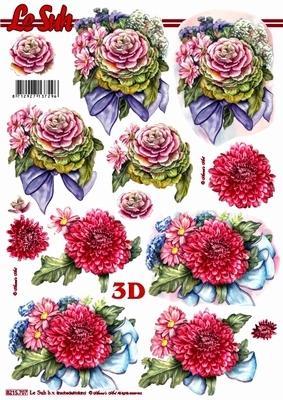 3D Bogen / Art, Blumen - Dahlien,  Blumen - Rosen,  Le Suh,  Sommer,  3D Bogen,  Rosen,  Dahlien