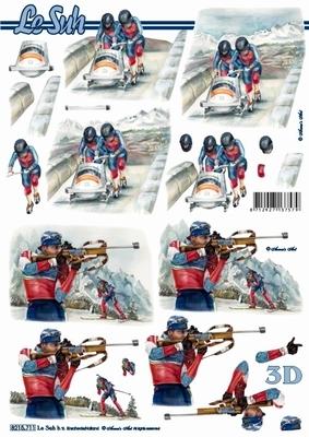 3D Bogen Format A4 - Wintersport - Format A4,  Sport -  Sonstiger,  Le Suh,  Winter,  3D Bogen,  Wintersport
