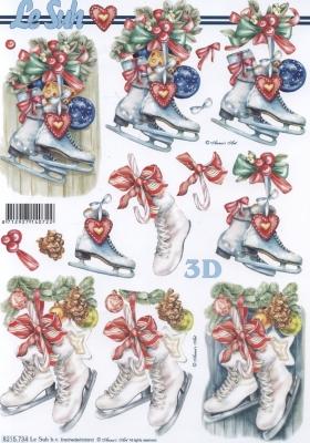 3D Bogen Schlittschuhe Format A4 - Format A4