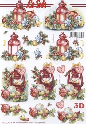 3D Bogen Weih.Laterne Format A4 - Format A4