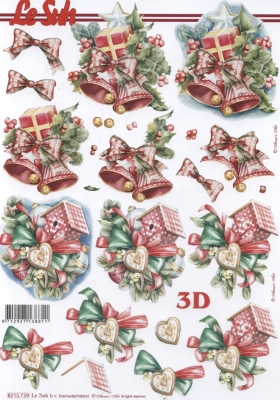 3D Bogen / Firmen, Weihnachten - Geschenke,  Weihnachten - Glocken,  Le Suh,  Weihnachten,  3D Bogen,  Glocken,  Geschenke