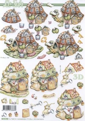 3D Bogen Umzug Format A4 - Format A4,  Sonstiges -  Sonstiges,  Le Suh,  Frühjahr,  3D Bogen,  Umzug,  Haus