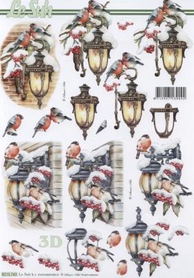 3D Bogen / Tiere,  Tiere - Vögel,  Le Suh,  Weihnachten,  3D Bogen,  Vögel,  Laterne