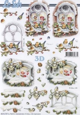 3D Bogen Weihnachtsfenster Format A4 - Format A4,  Sonstiges -  Sonstiges,  Le Suh,  Weihnachten,  3D Bogen,  Fenster