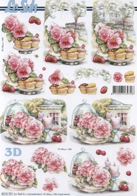 3D Bogen nach Jahreszeiten, Blumen -  Sonstige,  Essen - Kuchen / Keks,  Le Suh,  Sommer,  3D Bogen,  Kuchen,  Muffins
