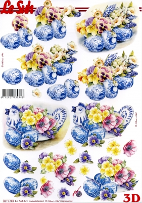 3D Bogen / alle anderen,  Blumen - Stiefmütterchen,  Le Suh,  Frühjahr,  3D Bogen,  Ostereier,  Stiefmütterchen