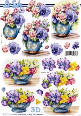 3D Bogen / Art, Blumen - Rosen,  Blumen - Osterglocken,  Le Suh,  Frühjahr,  3D Bogen,  Narzissen,  Rosen