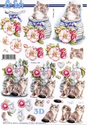 3D Bogen, Tiere - Katzen,  Blumen - Rosen,  Le Suh,  Frühjahr,  3D Bogen,  Katzen,  Rosen