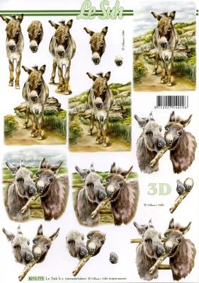 3D Bogen / Art,  Tiere -  Sonstige,  Le Suh,  Frühjahr,  3D Bogen,  Esel