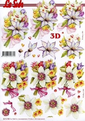 3D Bogen / Art,  Blumen - Osterglocken,  Le Suh,  Frühjahr,  3D Bogen,  Narzissen