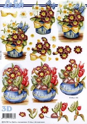 3D Bogen,  Blumen - Tulpen,  Le Suh,  Frühjahr,  3D Bogen,  Primeln