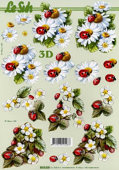 3D Bogen Marienkäfer - Format A4,  Le Suh,  Le Suh,  3D Bogen,  Marienkäfer