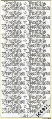 Stickers Sticker, holografisch - silber, silber,  niederländisch,  hologramm