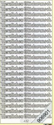 Stickers Sticker, holografisch - silber, silber,  Schriften - deutsch,  hologramm,  Geburtstag