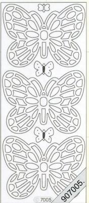 Stickers / Hologramm, gold,  hologramm,  Schmetterlinge