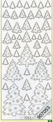 Stickers / Hologramm, grün,  hologramm,  Weihnachtsbaum
