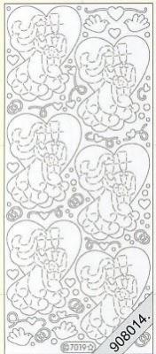 Stickers / Glitter, gold,  Art - Stickers Glitter transparent,  Art - Glitter Sticker,  Art - Glitter Sticker,  Hochzeit