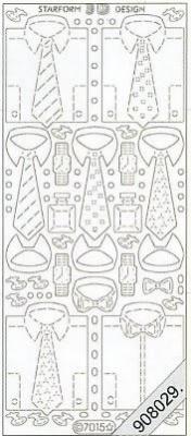 Starform, silber,  Art - Stickers Glitter transparent,  Art - Glitter Sticker,  Art - Glitter Sticker,  Krawatte,  Hemd,  Mann