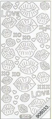 Stickers Flitter Love,Lippe schwarz - schwarz, schwarz,  Art - Stickers Glitter transparent,  Art - Glitter Sticker,  Art - Glitter Sticker