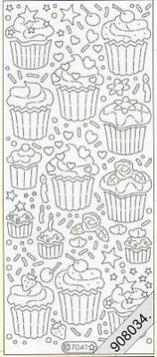 Stickers Glitzer-Stickers - cyclam, cyclam,  Art - Stickers Glitter transparent,  Art - Glitter Sticker,  Art - Glitter Sticker,  Kuchen,  Muffins