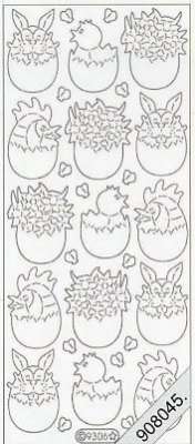 Starform, cyclam,  Art - Stickers Glitter transparent,  Art - Glitter Sticker,  Art - Glitter Sticker,  Jahreszeit - Ostern