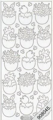 Starform, violett,  Art - Stickers Glitter transparent,  Art - Glitter Sticker,  Art - Glitter Sticker,  Jahreszeit - Ostern