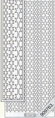 Stickers Glitzer-Stickers - schwarz, schwarz,  Art - Stickers Glitter transparent,  Art - Glitter Sticker,  Muster - Ränder,  Jahreszeit - Weihnachten,  Rand,  Sterne