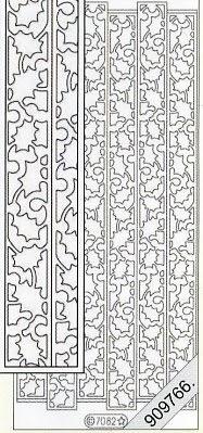 Stickers Glitzer-Stickers - türkis, türkis,  Art - Stickers Glitter transparent,  Art - Glitter Sticker,  Muster - Ränder,  Jahreszeit - Everyday,  Rand