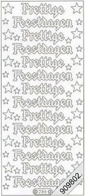 Stickers Glitzer-Stickers - silber, silber,  Art - Stickers Glitter transparent,  Art - Glitter Sticker,  niederländisch,  Jahreszeit - Weihnachten,  Sterne,  Schriften
