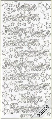 Stickers / Aufkleber, rot,  Art - Stickers Glitter transparent,  Art - Glitter Sticker,  niederländisch,  Jahreszeit - Weihnachten,  Sterne,  Schriften