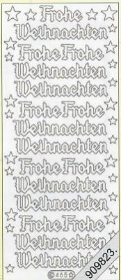 Stickers / Jahreszeiten, grün,  Art - Stickers Glitter transparent,  Art - Glitter Sticker,  Schriften - deutsch,  Jahreszeit - Weihnachten,  Sterne,  Schriften