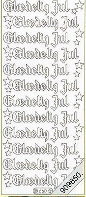 Stickers / Glitter transparent, grün,  Art - Stickers Glitter transparent,  Art - Glitter Sticker,  dänisch,  Jahreszeit - Weihnachten