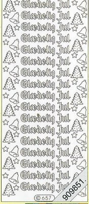 Stickers Glitzer-Stickers - rot, rot,  Art - Stickers Glitter transparent,  Art - Glitter Sticker,  dänisch,  Jahreszeit - Weihnachten