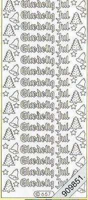 Starform, schwarz,  Art - Stickers Glitter transparent,  Art - Glitter Sticker,  dänisch,  Jahreszeit - Weihnachten