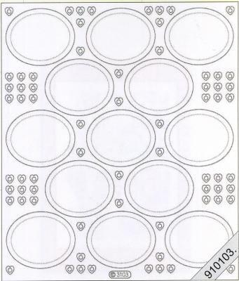 Stickers / Aufkleber, gold,  Stickers transparent,  Jahreszeit - Everyday,  Kreise