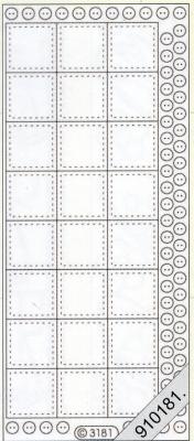 Stickers / Transparent, gold,  Art - Stickers,  Stickers transparent,  Jahreszeit - Everyday,  Karos