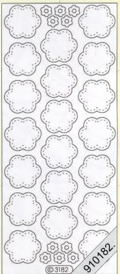 Stickers transparent - silber, silber,  Art - Stickers,  Stickers transparent,  Jahreszeit - Everyday,  Blumen
